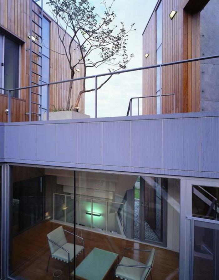 Outside of a modern Korean house...so neat. I'm a big fan of modern houses!