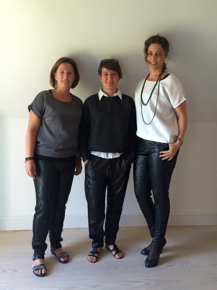 Smukke konsulenter alle tre iført Gry sequin pant.