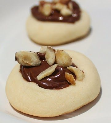 Nutella Melting Moments Gem Cookies