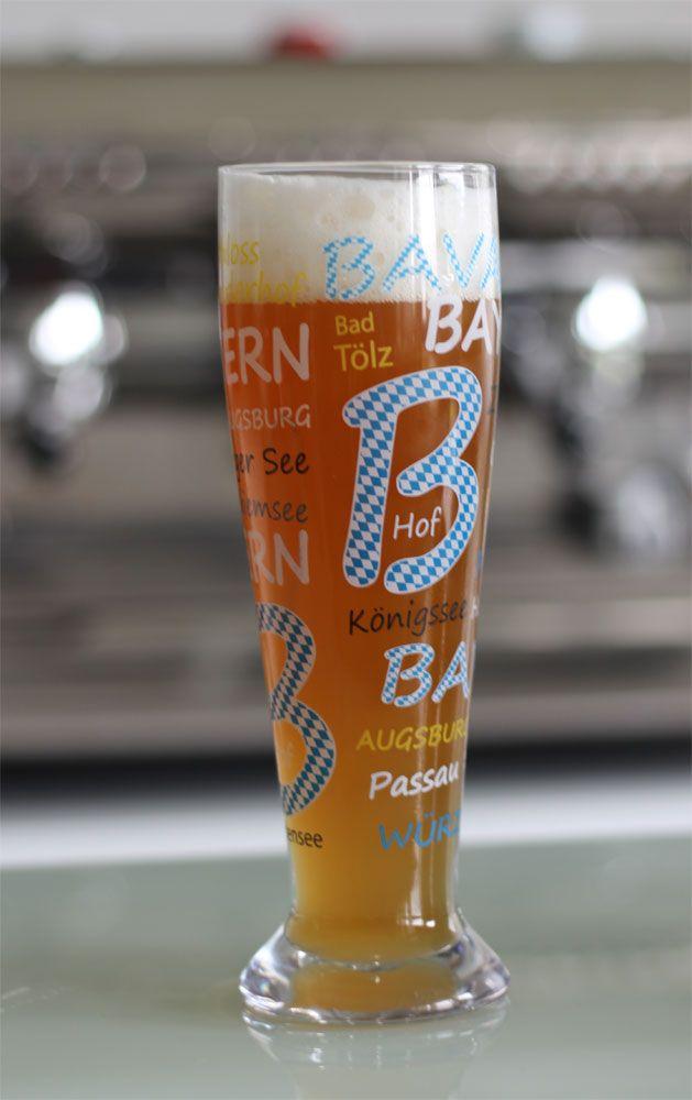Bavaria glass / Bayern Weizenglas #Weizenglas #Bayern #herrlichesfeeling