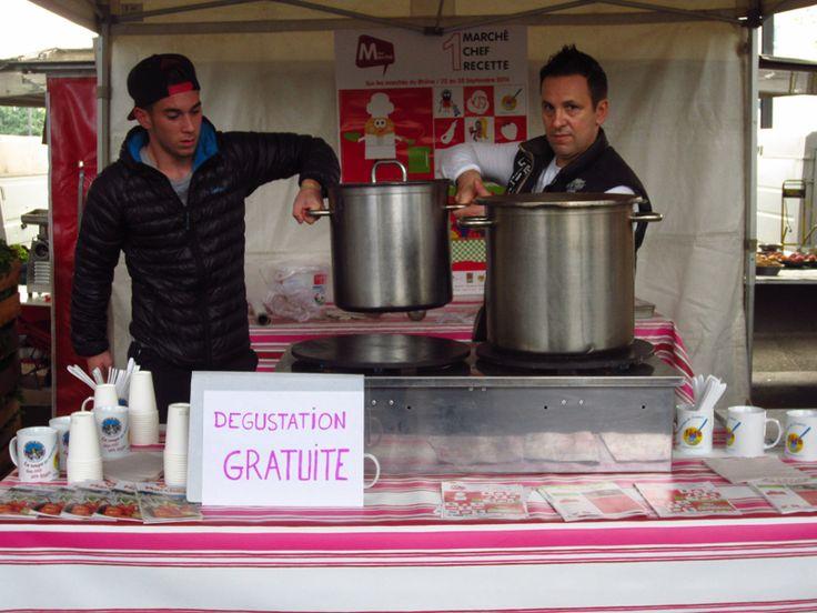 La Fête de la gastronomie 2014 opération 1 Marché, 1 Chef, 1 Recette sur le marché des Etats Unis Lyon 8_MtonMarché CCI Loiret