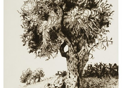 Walid Abu Shakra, a Palestinian artist and adept of Sufism, who made splendid etchings