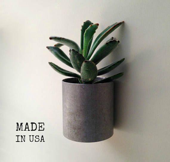 Wand Pflanzer, Modernen Recycling Metall Pflanzer, Hauptdekor, Moderne  Industrielle Pflanzer