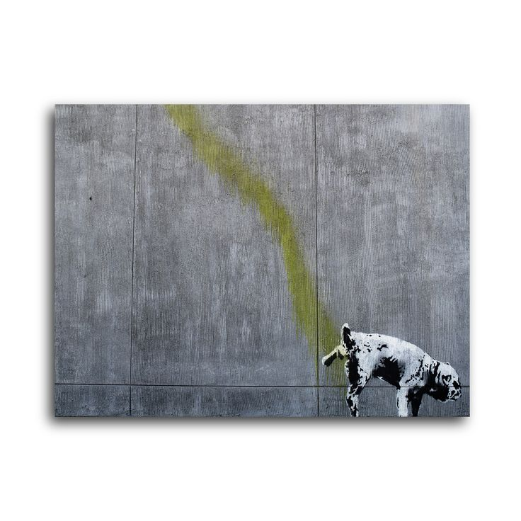"Banksy ""Wall Relief"" Brushed Aluminum Wall Art"