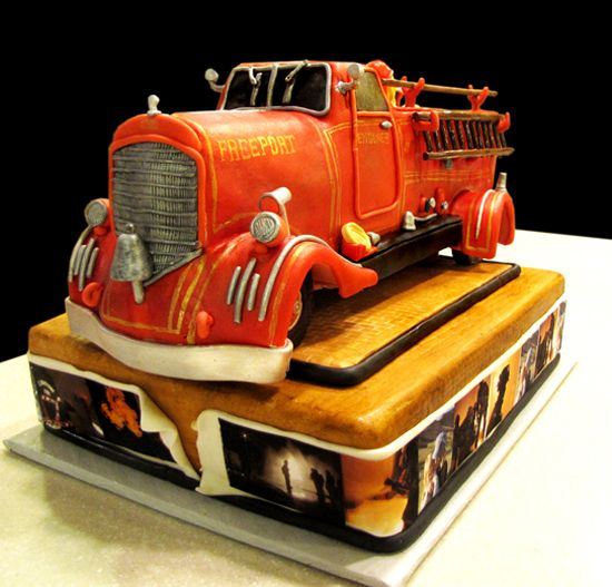 Fireman Grooms Cakes