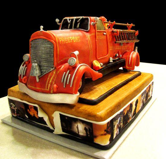 Fireman Grooms Cakes