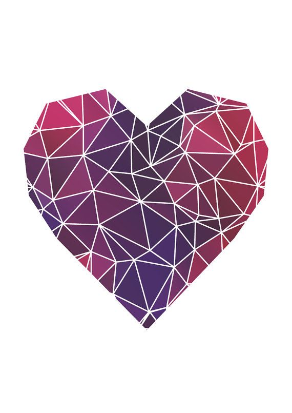 Geometric Heart // Print Valentine Wedding by TheNativeState