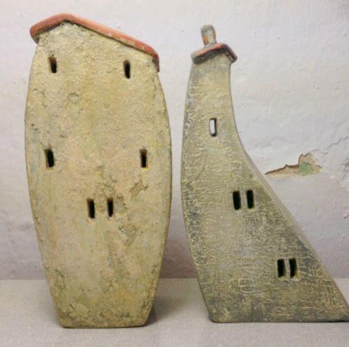 miniature ceramic houses Vesna Gusman