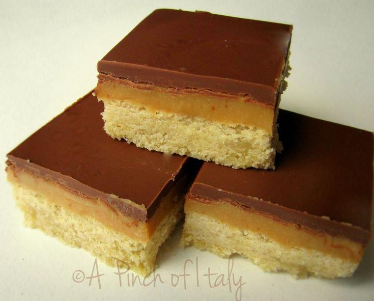Millionaires Shortbread - Ricetta Internazionale - A Pinch of Italy