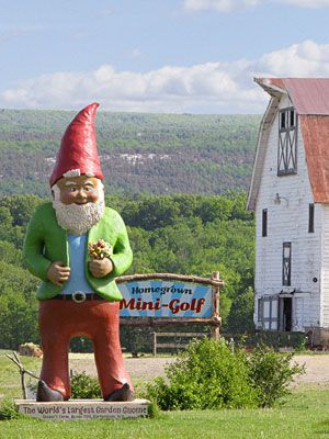 50 Things to Do in 50 States: @cal patch says to check out Homegrown Mini-Golf in New York, where they grow 50 varieties of produce, herbs, and grains on the course so you can grab lunch on-the-go.