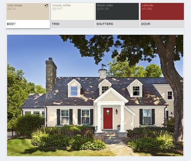 107 best exterior paint siding colors images on pinterest for Clay beige benjamin moore paint