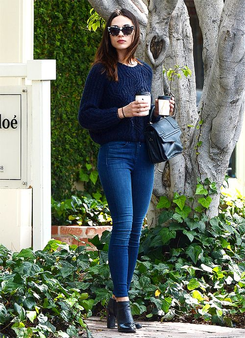 Crystal Reed leaving Alfred Coffee in Los Angeles on June 3rd, 2015