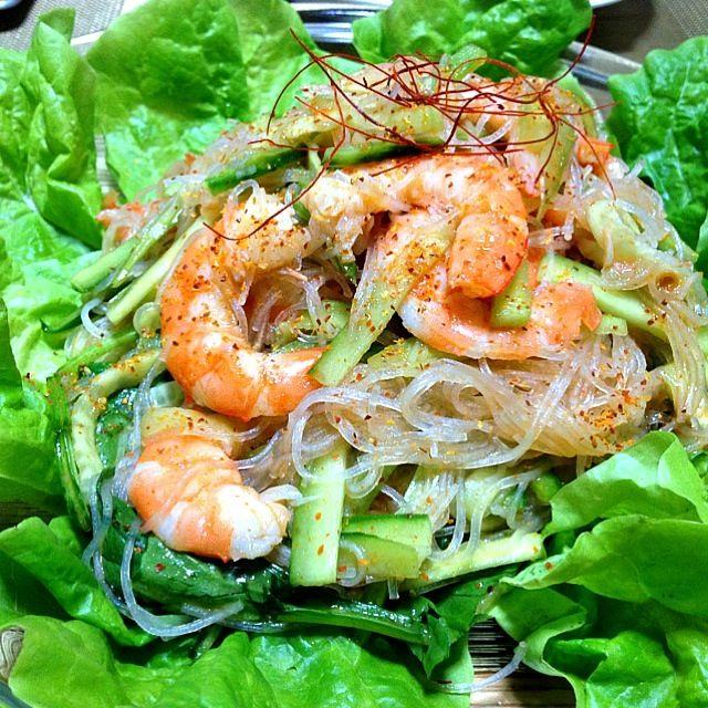 レシピとお料理がひらめくSnapDish - 13件のもぐもぐ - Homemade: Thai Style Hot Spicy Shrimp Noodle Salad (タイ風スパイシーエビと春雨サラダ) by Helen Escosora