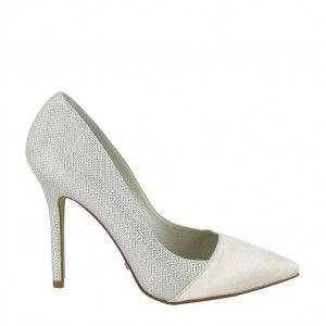 buty wieczorowe ślubne czółenka Menbur 5662/04