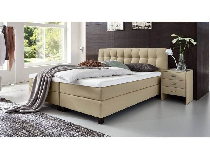 100x200 Bett Boxspringbett Hartegrad King Luciano Sandfarben Size King Size Bett Luciano 100x200 Cm Sandfarben Hartegrad H3 King Size Diy Bed Bed