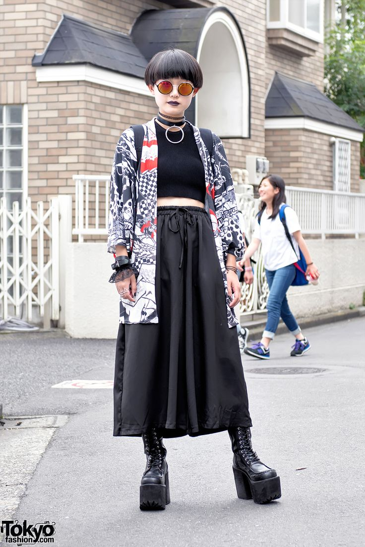 Harajuku Street Style w/ ACDC Rag Kimono Jacket, Glad News & HellcatPunks