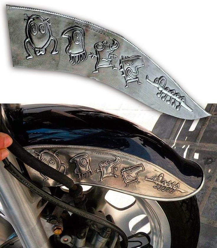 ArteyMetal: Placa guardabarros moto custom. Arteymetal
