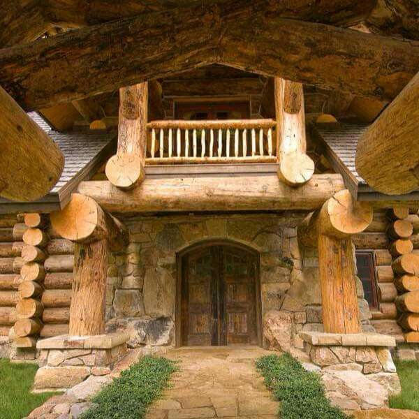 58 Best Images About Log And Stone Homes On Pinterest So