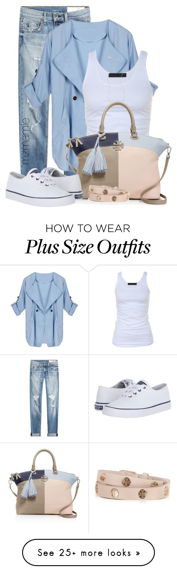 """Untitled #2780"" by mzmamie on Polyvore featuring rag & bone, Tusnelda Bloch, Wish by Amanda Rose, Tory Burch and Sperry"