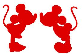 Deb's Designs: Mickey and Minnie Mouse Silhouette SVG