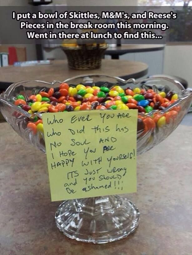 Mix together similar looking candies to April Fool someone! :17 Easy April Fools' Day Pranks To Play On Your Friends