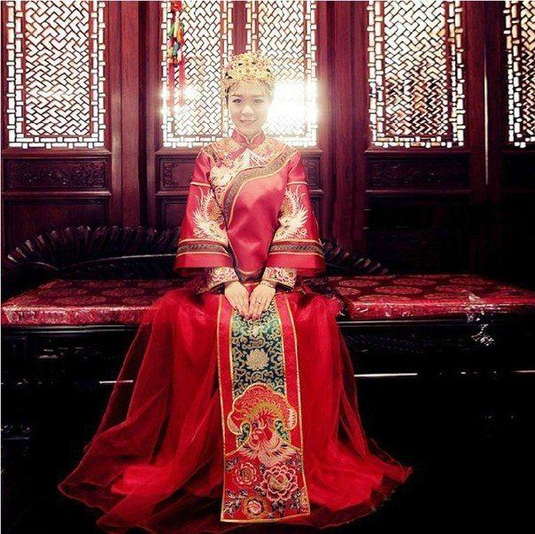Свадебные наряды китайских невест в традиционном стиле / Speleologov.Net - мир кейвинга