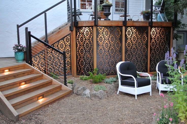 That Gap Under the Deck: Hide It or Use It! 6 ways to transform a landscape eyesore into a landscape feature Eclectic Landscape Global Garden, San Carlos