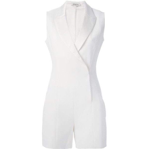 Mugler tailored playsuit ($1,720) ❤ liked on Polyvore