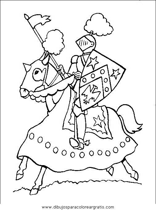 Dibujos para colorear - Edad Media
