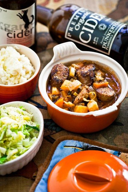 Sausage & cider stew