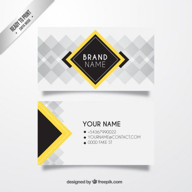 11 best business cards images on pinterest business cards business card with squares free vector reheart Image collections