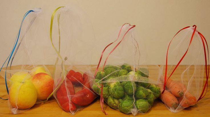 DIY Obst- & Gemüsebeutel für plastikfreien Einkauf - eine richtig gute Idee!
