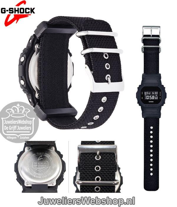 Casio G-Shock horloge DW-5600BBN-1ER Zwart Uni. #casio #gshock #blacknato #black #watch #sportwatch #juwelierswebshop