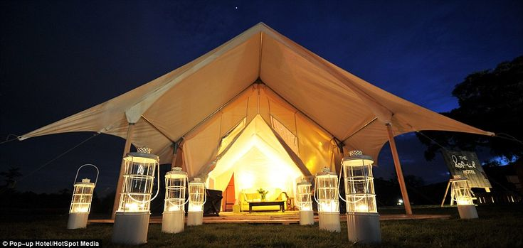 Grand entrance: Mark Sorrill said he wants the tents and hotel to match the surroundings, ...