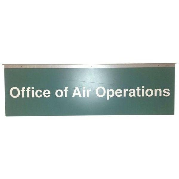 Industrial Military Sign Air Operations 1970s ($75) ❤ liked on Polyvore featuring home, home decor, wall art, novelty signs, typography wall art, quote wall art, word wall art and text signs