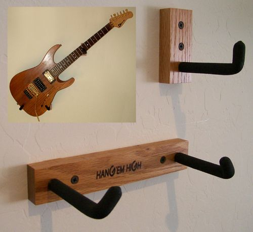 Want to hang Stephen's Guitars like this. Find a DIY?