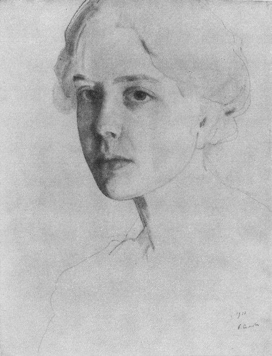Портрет С. П. Званцевой. 1911. Сомов Константин Андреевич (1869-1939):