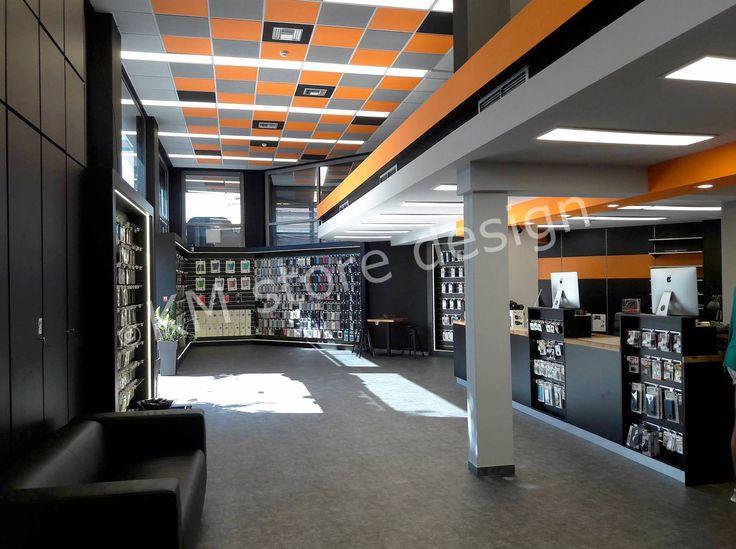 Η KM store designπραγματοποίησε με επιτυχία την επίπλωση αλυσίδας καταστημάτων με ηλεκτρονικά είδη. Το εν λόγω έργο αφορά το iRepair στο Παλαιό Φάληρο. Το κατάστημα εμπορεύεται όλα τα είδη ηλεκτρονικών, τεχνολογίας και αξεσουάρ, προσφέροντας ταυτόχρονα και service σε ηλεκτρονικές συσκευές. Ο εξοπλισμός καταστήματος iRepair έλαβε χώρα