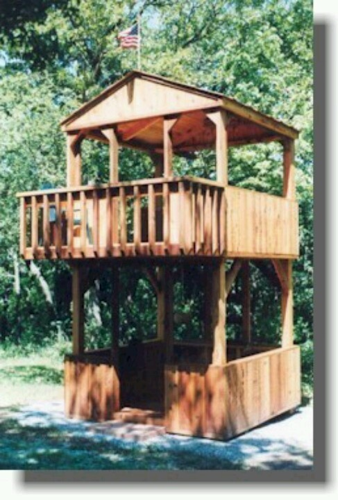 2 story play fort | Backyard fort, Backyard playground ...