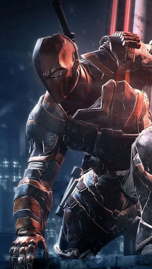 Deathstroke - the one assassin you can't out-smart  This is the best design of slash since judas contract his original concept design it honestly makes him look more menacing and I love how the added so much detail to his body armor where it looks like u have no idea what he is up to