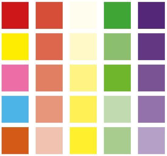 Rood = warm gevoel Geel = een lachend gevoel creëren  Groen = om een gelukkig einde aan te geven Roos = om vrouwelijke komedie weer te geven