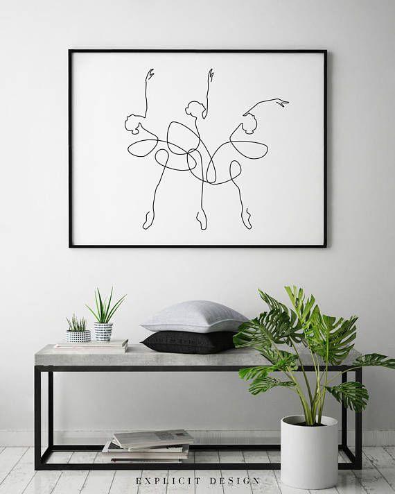 Abstrakte Ballerina druckbare, einer Linie Körper Druck, schwarz weiß Kunstwerk, Tanz Poster, Original minimalistische Frau Kunst, Luxus-Ballett-Dekor. SOFORT-DOWNLOAD Dieses Angebot ist für eine DIGITALDATEI von diesem Kunstwerk. Kein physisches Produkt gesendet werden. Sie können – Chiara
