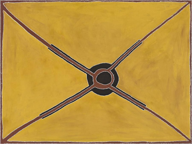 ROVER THOMAS (JOOLAMA) (c1926 – 1998) WARINGARRI  THE MEETING PLACE, 1996 natural earth pigments with synthetic binder on canvas 180.0 x 240.0 cm