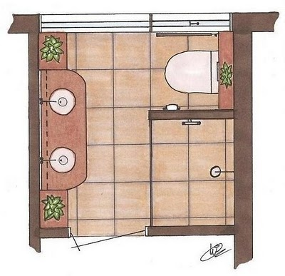 great lay-out for a small bathroom