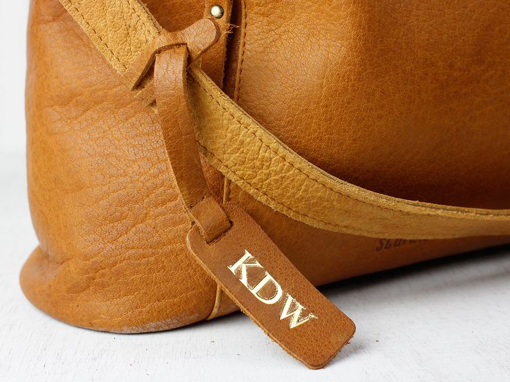 Customisable Bag Tag - Antique Leather