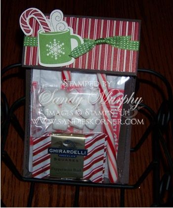 Christmas gift Ideas stampin Up Coaco Pouch with Scentsational Season stamp set