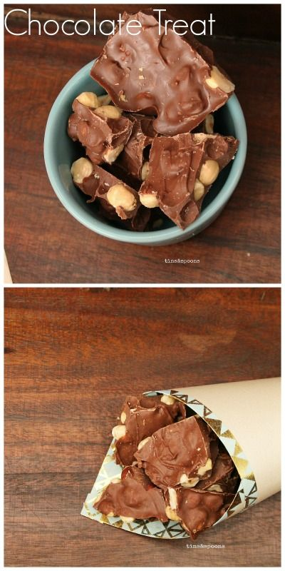 A sweet treat, Chocolate with Gingerbread spice & Hazelnuts. Recipe on the blog