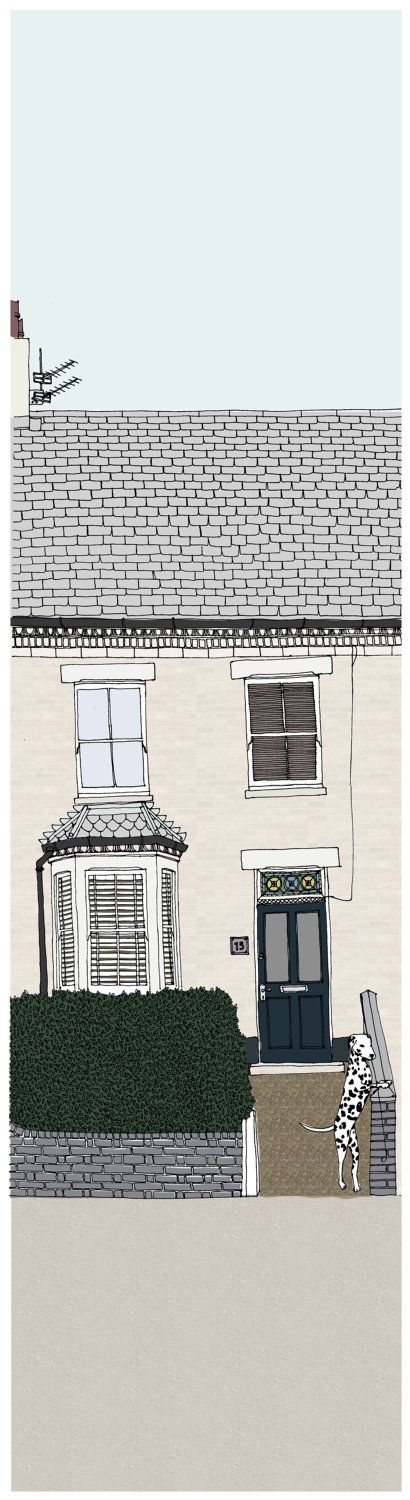 Bespoke/Custom House Illustration Print of YOUR by DottyNoggin, £70.00