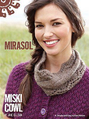Free Mirasol Pattern - Miski Cowl I absolutely love cowls!!!!!