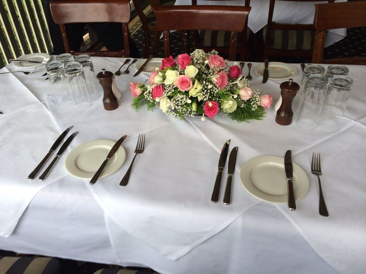 Wedding table centrepiece.